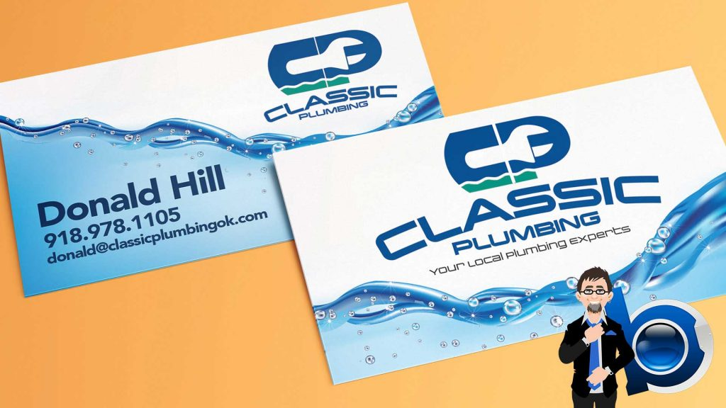 Classic Plumbing business cards